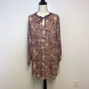 Mossimo Lavender Floral Large A-Line